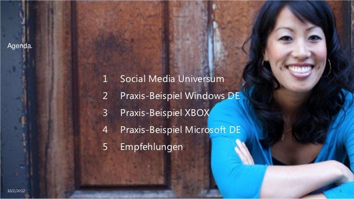 Social Media-wie erhöht man die Interaktion mit den Lesern (am Bsp Microsoft) Slide 2