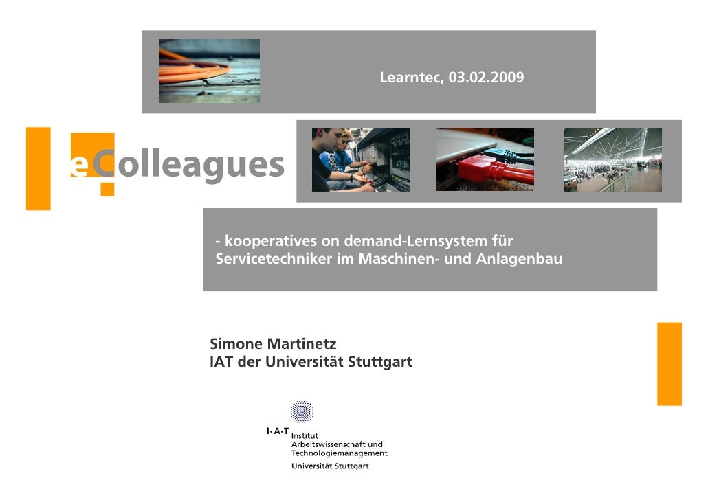Learntec, 03.02.2009                                             - kooperatives on demand-Lernsystem für                  ...
