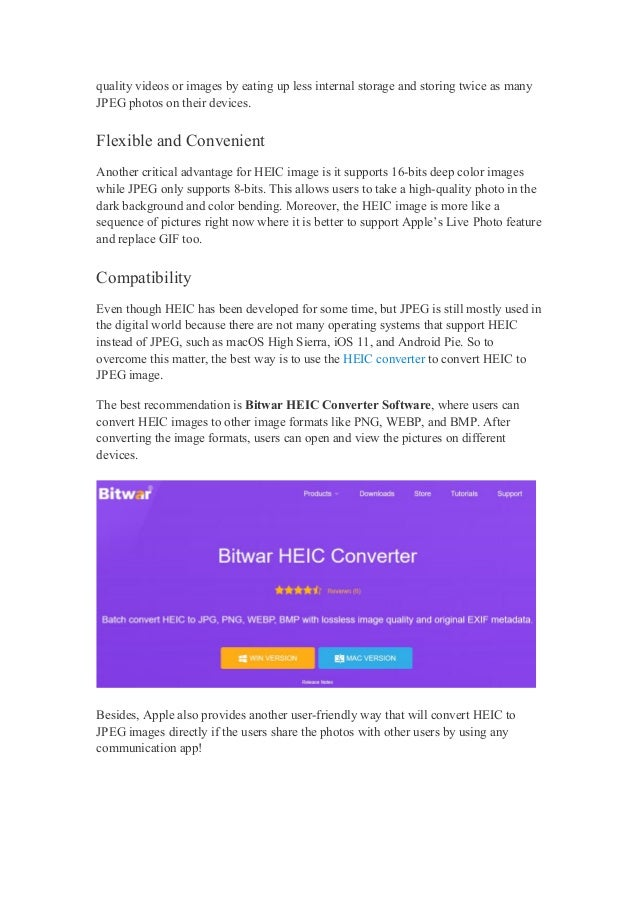 Learn the difference between heic and jpeg image! Slide 2
