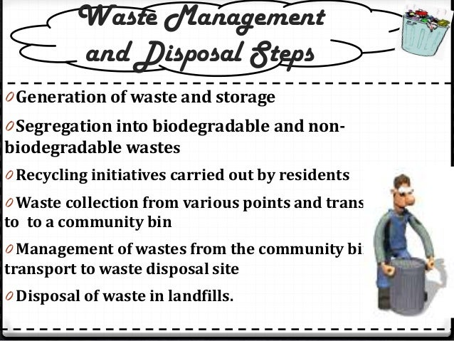 Learn to manage your waste- waste disposal methods and ...