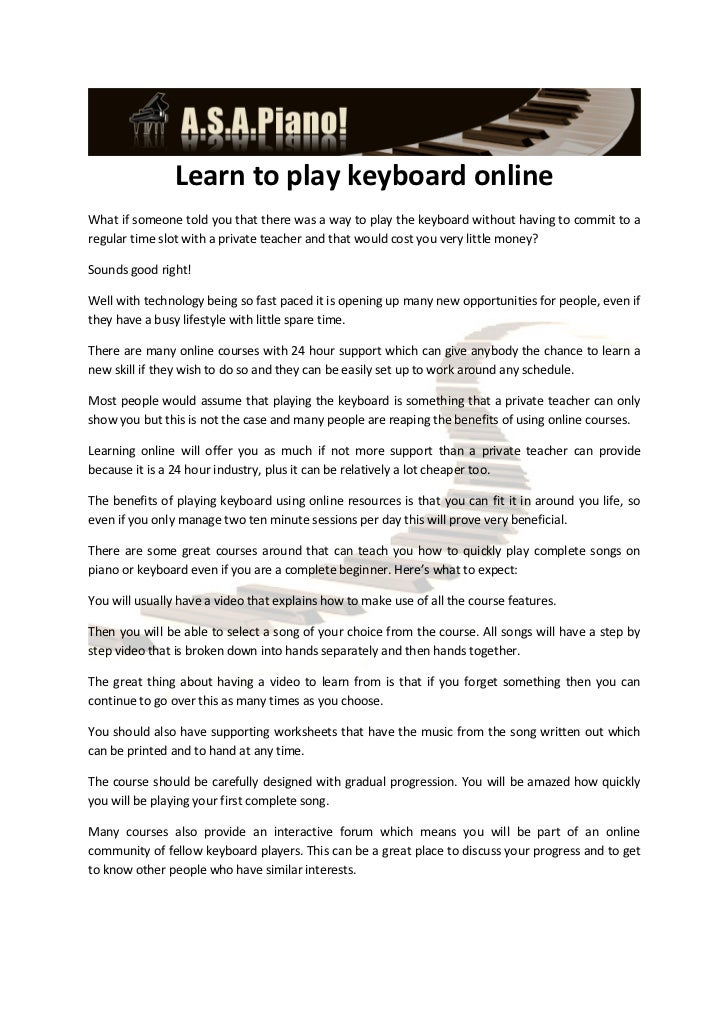 Online piano lessons - The easiest way to learn piano