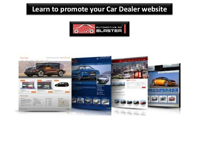 Learn to promote your Car Dealer website