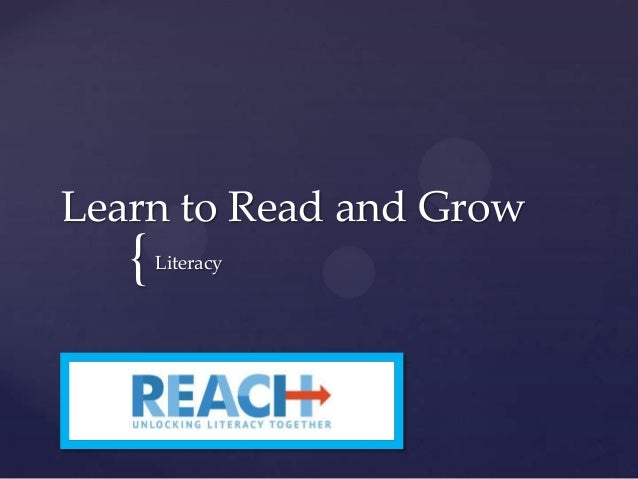 Learn to Read and Grow  {  Literacy
