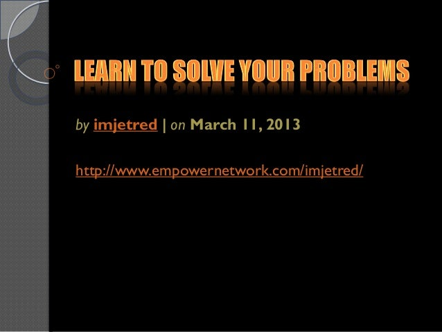 by imjetred | on March 11, 2013http://www.empowernetwork.com/imjetred/