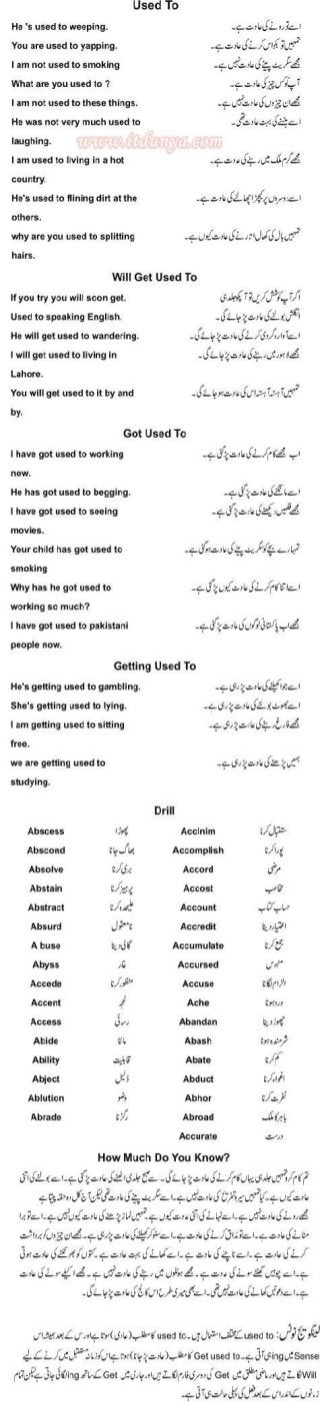 Learn to speak english in 100 days urdu pdf book