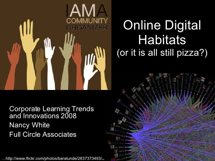 Online Digital Habitats (or it is all still pizza?) Corporate Learning Trends and Innovations 2008 Nancy   White Full Circ...