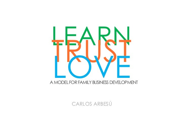 LEARNTRUSTLOVEA MODEL FOR FAMILY BUSINESS DEVELOPMENT         CARLOS ARBESÚ