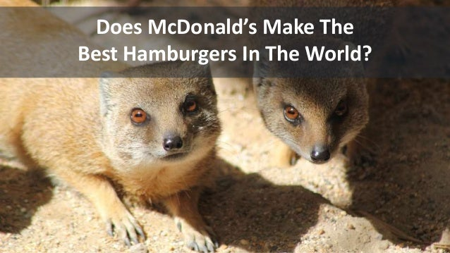 Does McDonald's Make The Best Hamburgers In The World?