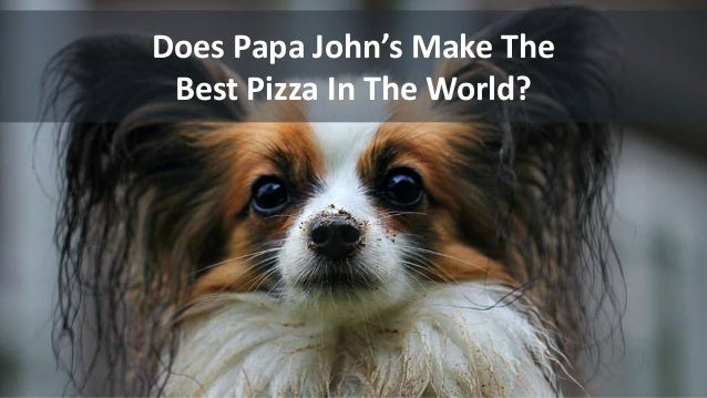 Does Papa John's Make The Best Pizza In The World?