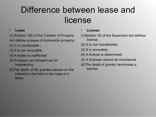 distinguishing between leases and license Owners corporation update: leases and licences – which, when and why  an owners corporation may lease or license the whole or any part of the common property to .