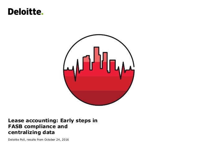Lease accounting: Early steps in FASB compliance and centralizing data Deloitte Poll, results from October 24, 2016