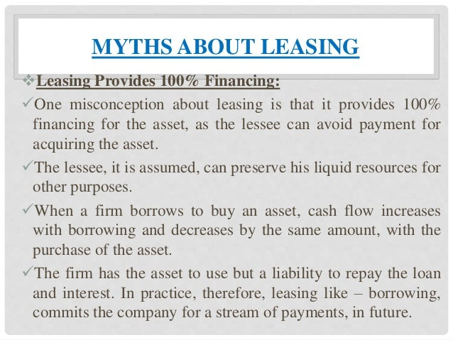 comparing and contrasting lease versus purchase Compare and contrast lease versus purchase options, including advantage and disadvantages how are debt financing and equity financing related to lease and purchase and please give a couple of examples for each.