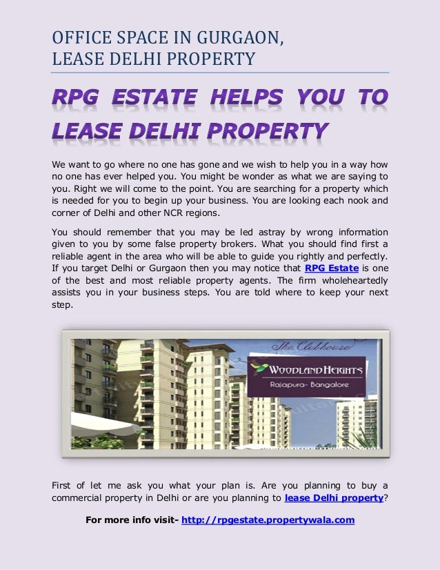 OFFICE SPACE IN GURGAON,LEASE DELHI PROPERTYWe want to go where no one has gone and we wish to help you in a way howno one...