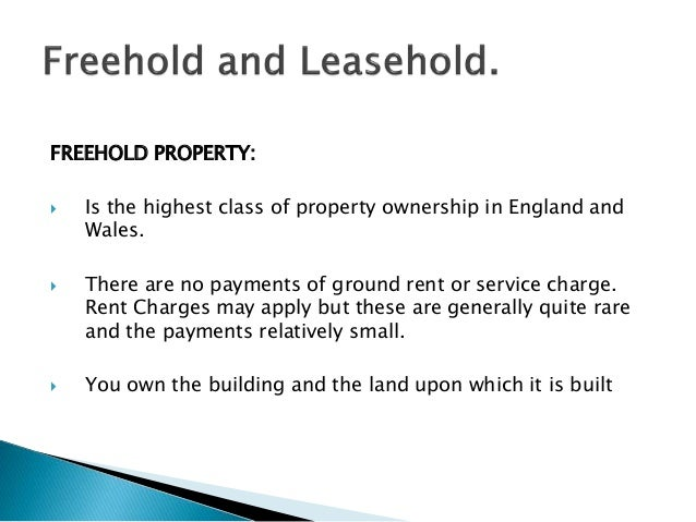 Can A Property Be Leasehold And Freehold
