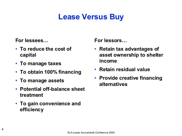 Capital Vs Operating Lease >> The Basic Of Lease Accounting