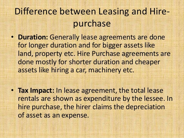 Difference Between Leasing ...