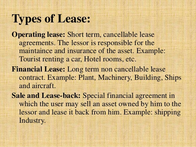 Lessor Vs Lessee >> Lease presentation