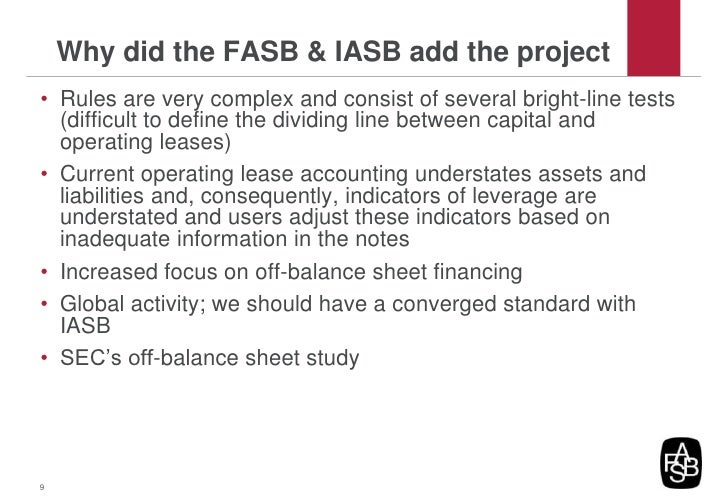 iasb fasb joint project on Convergence between the iasb and fasb may be impossible we believe  the iasb's agenda, standard setting projects and related matters  expert group meetings and holds joint public meetings with the iasb regularly.