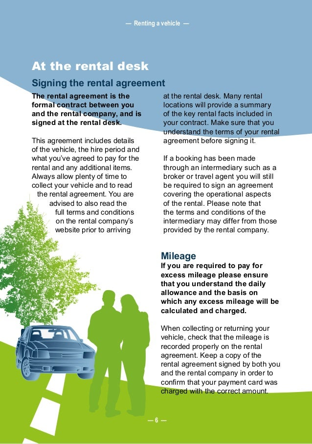 Leaseurope The European Consumer Guide To Car Rental