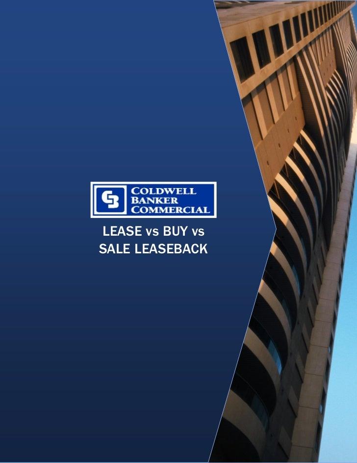 Lease Vs Buy Vs Sale Leaseback