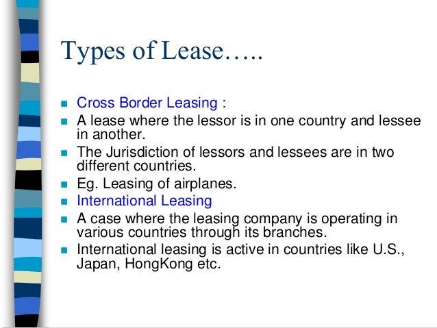 Leasing 14 types of lease platinumwayz