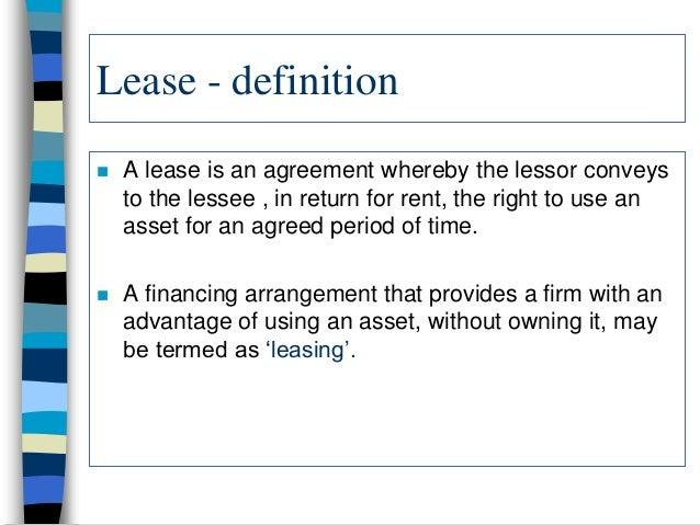 Leasing – Define Rental Agreement