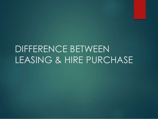 leasing and hire purchase pdf