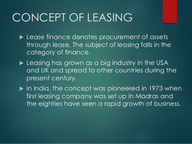 lease and hire purchase Accounting for leases and hire purchase contracts foreword over the past few years, leasing has grown in importance such that it is now a major.