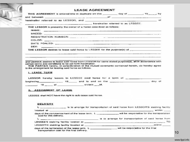 Equipment Lease Agreement What Is An Equipment Lease Agreement With