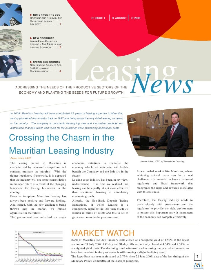 NOTE FROM THE CEO                 CROSSING THE CHASM IN THE                                ISSUE 1          AUGUST        ...