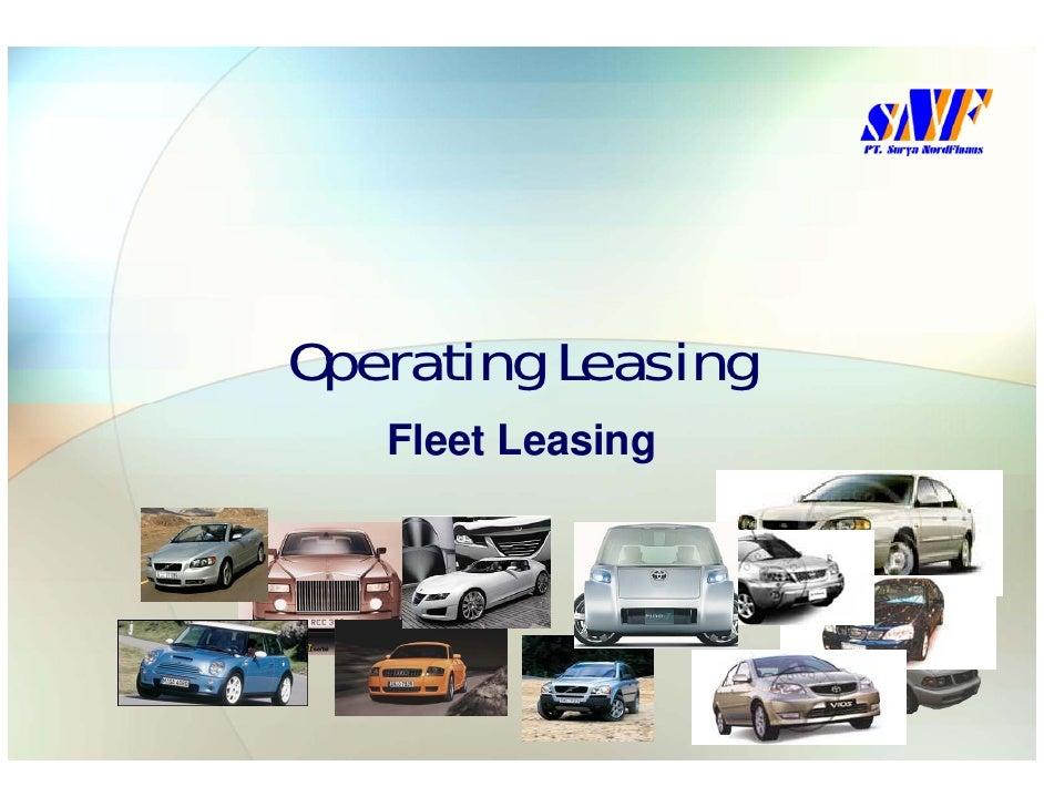 Operating Leasing    Fleet Leasing