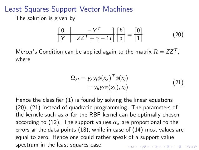 least squares support vector machine