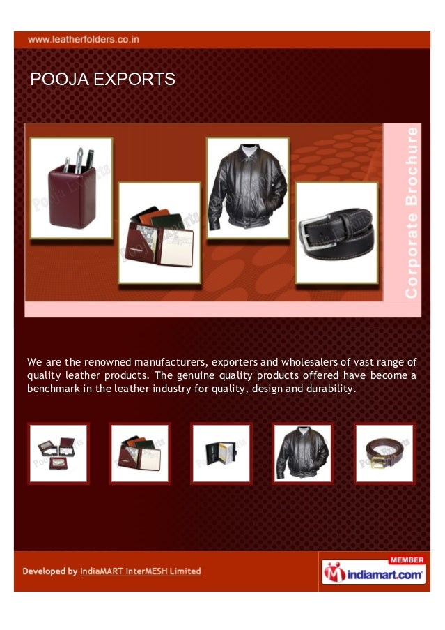 We are the renowned manufacturers, exporters and wholesalers of vast range ofquality leather products. The genuine quality...