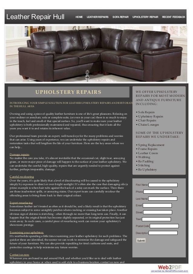 Leather Upholstery Repair >> Upholstery Repairs Hull