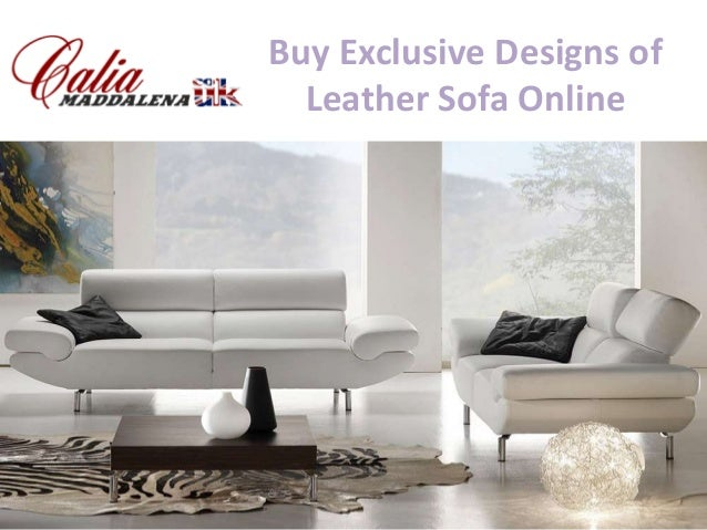 Buy Exclusive Designs of Leather Sofa Online