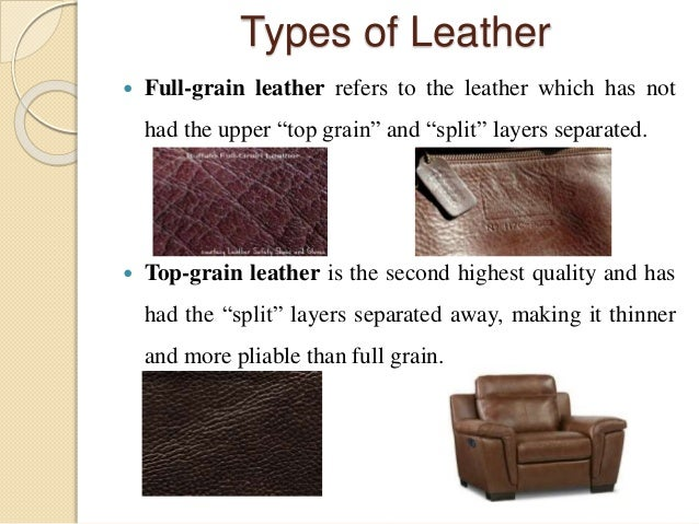 ... 12. Types of Leather  Full-grain ... 490515801