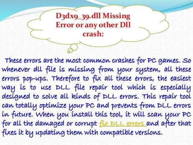 D3dx9_39 dll missing league of legends fix | D3dx9_39 dll is