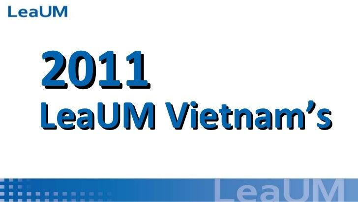 LeaUM Vietnam's 2011