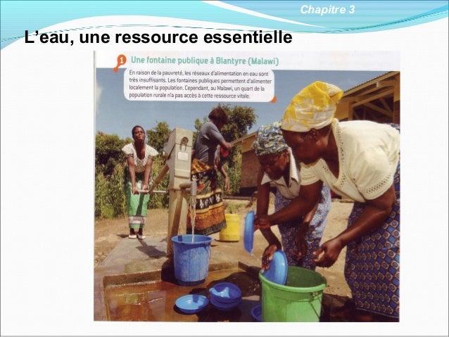 Chapitre 3L'eau, une ressource essentielle