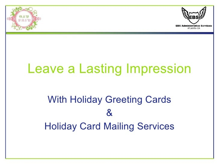 Leave a Lasting Impression With Holiday Greeting Cards & Holiday Card Mailing Services
