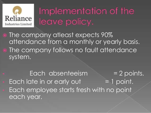 Leave policies of different companies