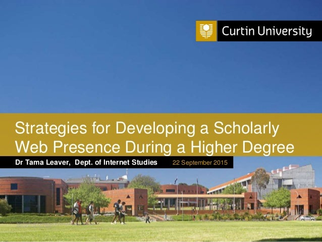 Curtin University is a trademark of Curtin University of Technology CRICOS Provider Code 00301J Dr Tama Leaver, Dept. of I...