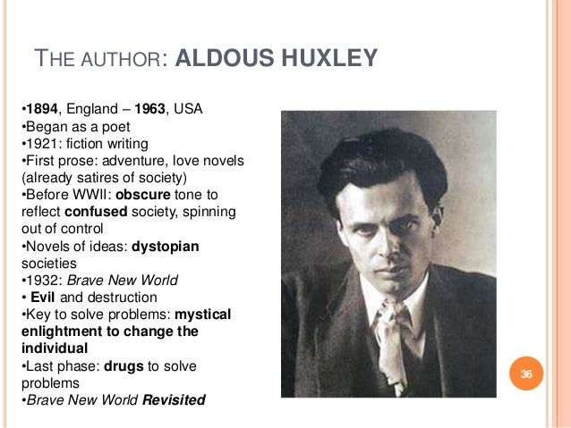 the depiction of the society in brave new world by aldous huxley Brave new world by aldous huxley  combination of science and pleasure form a rather feudalistic society  brave new world is a scary depiction of what could.