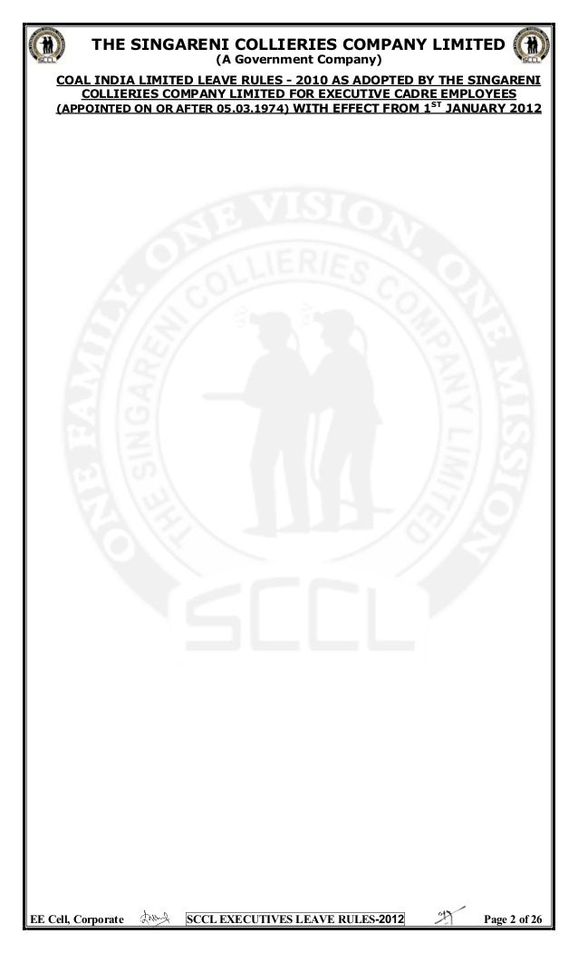 Sccl executive leave rules with amendments upto 01062013 altavistaventures Image collections