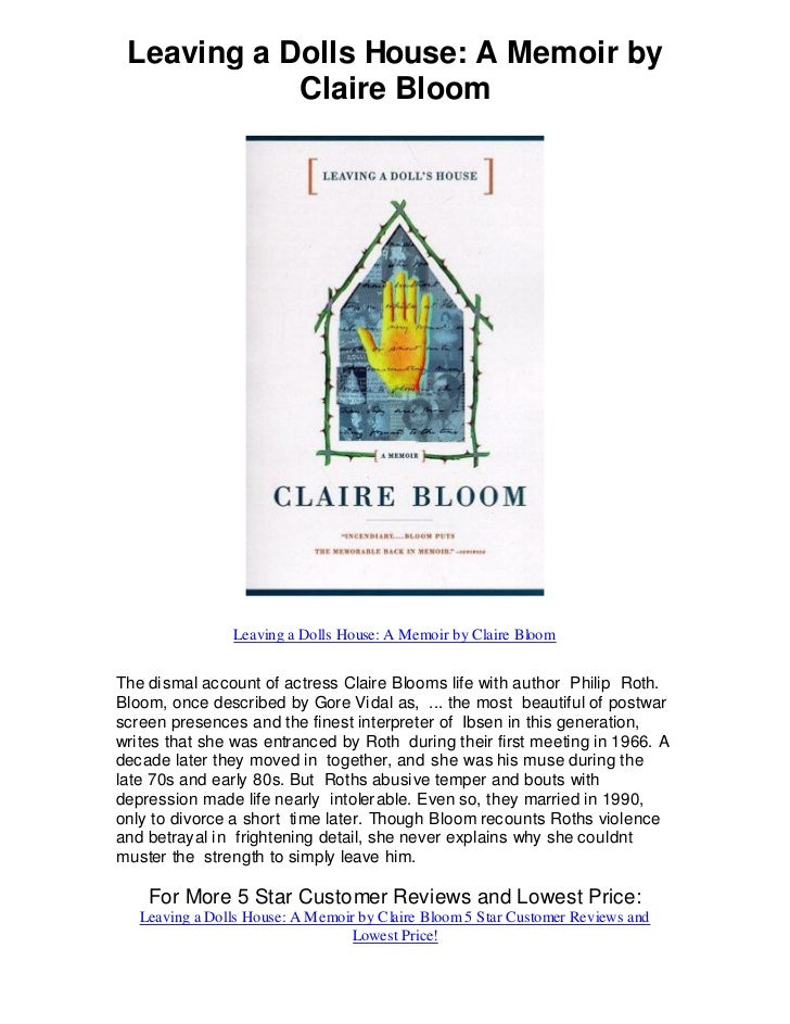 Leaving A Dolls House Memoir By Claire Bloom 5 Star Review