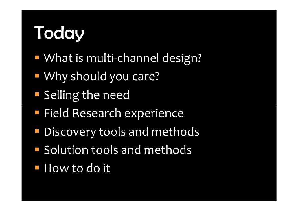 Leaving Flatland: Cross-Channel Customer Experience Design Slide 2