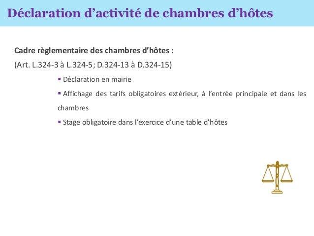 Le b de la r glementation de ses chambres d h tes et - Declaration en mairie des meubles de tourisme ...