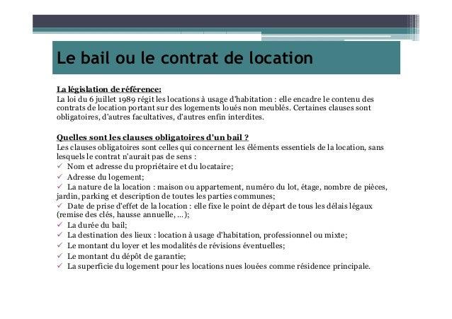 Le bail ou le contrat de location - Proprietaire caution non rendue ...