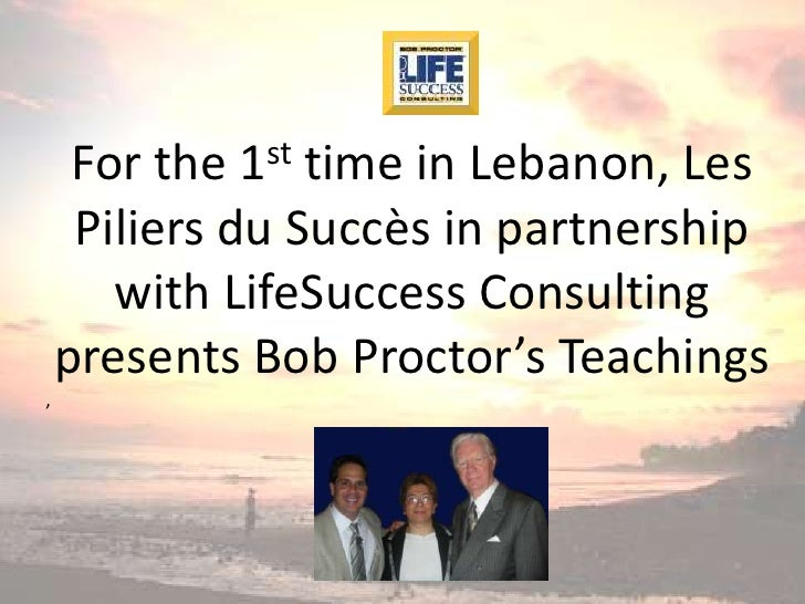 st      For the time in Lebanon, Les             1      Piliers du Succès in partnership        with LifeSuccess Consultin...