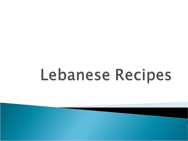 Delicious Lebanese Recipes